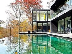 A Glassy Modern Mansion on the Banks of the Potomac   #sunputty Sun Putty 100% natural skin-loving sunscreen  www.sunputty.com  www.sunputty.com/sunputty_online_store/index.php