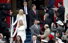 Donald Trump's children Ivanka Trump (L), Tiffany Trump, Donald Trump Jr, and Eric Trump arrive  on the West Front of the U.S. Capitol on January 20, 2017 in Washington, DC. In today's inauguration ceremony Donald J. Trump becomes the 45th president of the United States.