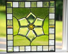 Large Stained Glass Panel Custom Panel for by WindsongGlassStudio