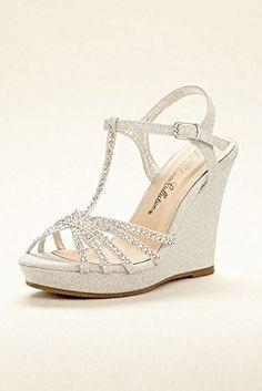 high heel t strap wedge sandal style alina11 silver metallic 7 davids bridal