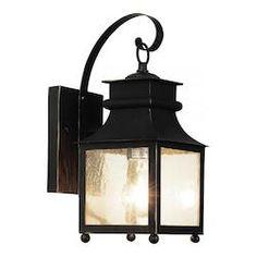 Trans Globe One Light Weathered Bronze Amber Seeded Glass Wall Lantern