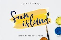 Sun island Font by Pasha Larin - Creative Fabrica Sun island is a gorgeous, handwritten script font; this script is ideal for a wide range of designs that need an airy and fresh feel. This font looks great in vintage and modern designs. Handwritten Script Font, Hand Lettering Fonts, Calligraphy Fonts, Free Fonts Download, Font Free, Beautiful Fonts, Pretty Fonts, Premium Fonts, All Fonts
