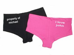Personalised Boy Shorts Knickers Diamante Novelty Bride Hen Party Do Hot Pants