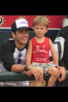 Joey et son mignon petit garçon. Cute!