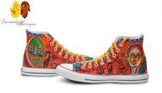 Converse. Arte en cada paso. Tenis pintados a mano.