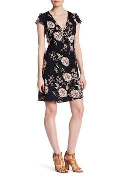 Printed Short Sleeve Surplice Neck Dress by Spirit of Grace on @nordstrom_rack