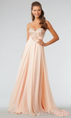 Would love this in green!! JVN by Jovani Prom Dresses, Beaded Strapless Prom Gown- #prom #dresses #gowns