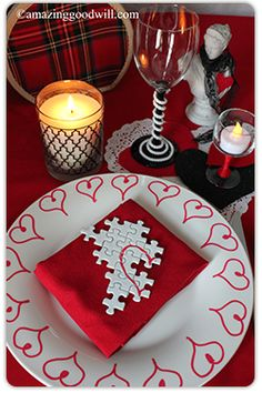 You create the delicious #Valentine's Day dinner; Home #Decor Expert Merri has your romantic table setting covered!