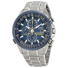 "Citizen Men's AT8020-54L ""Blue Angels"" Stainless Steel Eco-Drive Dress Watch #Citizen"