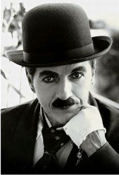 Chaplin, silent movie star..but more than that, one of the pillars on which great movie making was built...
