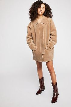 2fc91d7cec9b Lindsay Faux Sherpa Coat - Cozy Tan Sherpa Coat Free People