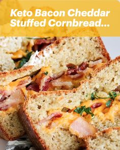 🥓🧀 Keto, Bacon, Cheddar Stuffed Cornbread… This is how you make everyone happy this holiday season. You put bacon and ALL of the cheese inside cornbread and everyone will love you. It's a whole new level of cornbread, don't you want to bring that to people? Lol, and it's easy, 👉 Click the Link!