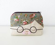 Zipper Pouch - Boy with Glasses