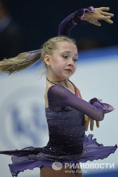 Elena Radionova- Purple Figure Skating / Ice Skating dress inspiration for Sk8 Gr8 Designs.