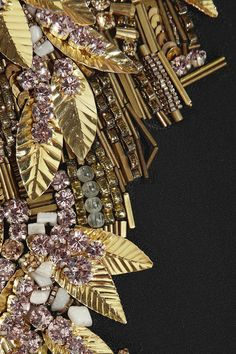 Embroidery designs fashion embellishments alexander mcqueen 48 new Ideas Tambour Embroidery, Couture Embroidery, Beaded Embroidery, Hand Embroidery, Embroidery Designs, Leather Embroidery, Embroidery Works, Couture Embellishment, Embellishments