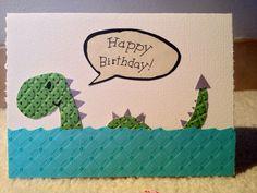 Sea monster Birthday card