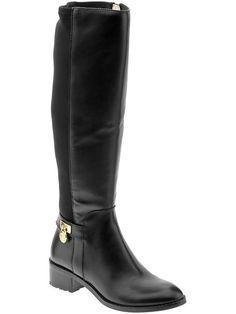 Michael Kors Hamilton Stretch Boot - Black