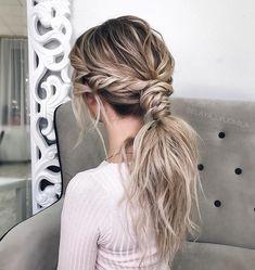 39 ponytail hairstyle inspiration , braids ,hairstyles ,braided ponytails , textured braids #hairstyle #hair #braids #ponytails