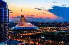 Evening in Astana, the capital of Kazakhstan