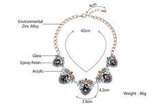 Women Fashion Retro Collar Resin Gem Cluster Multicolor Statement Necklace - Buy Necklace,Statement Necklace,Collar Necklace Product on http://Alibaba.com