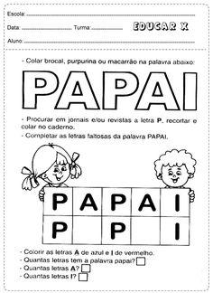 Pesquise e complete as letras Papai
