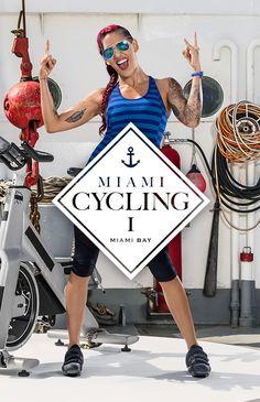 Triff unsere CYBEROBICS-Trainerin Joann Veger zu ihrem coolen Workout MIAMI CYCLING I auf einem Fischerboot in der Miami Bay. Vor der faszinierenden Skyline der Stadt fordert dich J-Rok zu einer rasanten Fahrt heraus. Stell dich der neuen Cycling-Challenge und verbessere deine Ausdauer. #EscapeEverydayLife #cyberobics