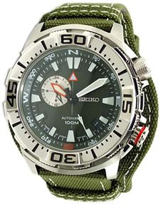 SEIKO SUPERIOR Automatic Army Green Dial Mens Watch made in Japan SSA055J1