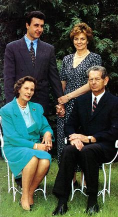 Prince Radu, Princess Margarita and her parents Queen Anne and King Michael of Romania