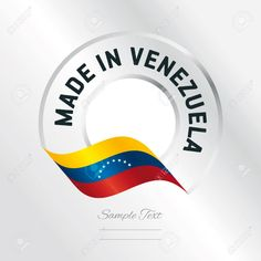 Made in Venezuela transparent logo icon silver background Stock Vector - 73948159