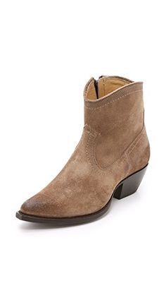 FRYE Sacha Suede Short Booties. #frye #shoes #boots
