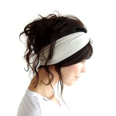 Tie Up Headscarf Cloud by ChiChiDee on Etsy, £12.00