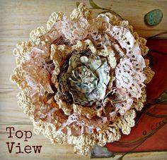 Cloth Flowers, Burlap Flowers, Felt Flowers, Diy Flowers, Crochet Flowers, Fabric Flowers, Doilies Crochet, Material Flowers, Wedding Flowers