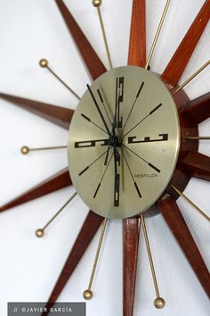 Vintage Sunburst Clock