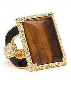 Rachel Zoe Tiger's Eye Square Ring