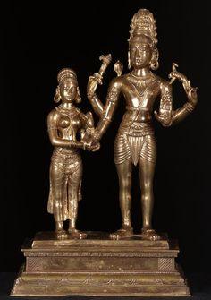 "Shiva & Parvati Wedding Statue 17"" ॐ नमः शिवाय; Oṃ Namaḥ Śivāya"
