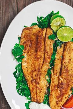Quick pan-seared trout recipe, prepared with Mediterranean spices and served with Greek Tzatziki Sauce and a light arugula salad. Delicious weeknight dinner Source by Badroulboudour Seafood Dishes, Seafood Recipes, Cooking Recipes, Healthy Recipes, Cooking Ideas, Chicken Recipes, Mediterranean Dishes, Mediterranean Diet Recipes, Mediterranean Style