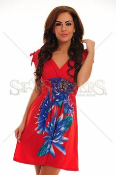 Floral Song Red Dress