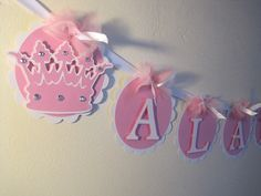 Princess Name Banner..Happy Birthday Banner....This Listing Is For A Name Banner Up To 6 Letters on Etsy, $18.00