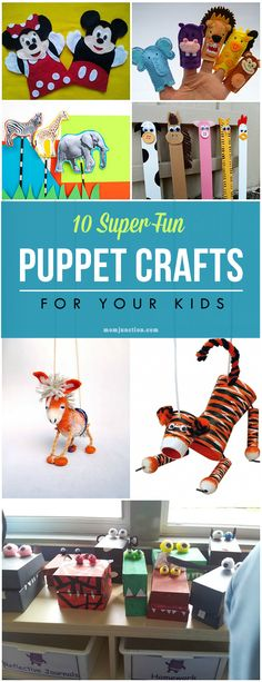 10 Super Fun Puppet Crafts For Your Kids :Here are 10 of the best puppet crafts ideas for you and your little ones: