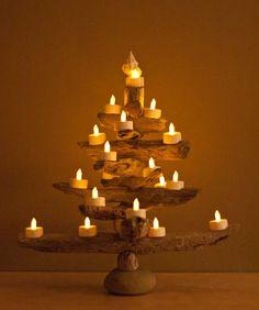 Sally Lee by the Sea | Driftwood Christmas Tree Ideas | http://nauticalcottageblog.com