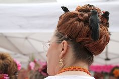 Charlene Thayer during the Miss Hon Competition at the 2013 Honfest in Hampden.  Check out that beehive hair style!