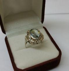 Jugendstil Ring Silber 830 Vintage antik alt SR732 von Schmuckbaron