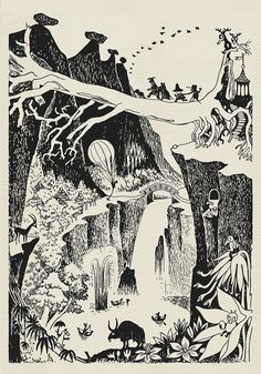 Peter - Favourite Moomin illustrations by Tove Jansson. Tove Jansson, Art And Illustration, Fantasy Kunst, Fantasy Art, Les Moomins, Art Plastique, Art Inspo, Illustrators, Fairy Tales