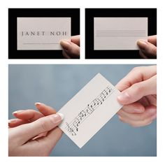 Business card for musician