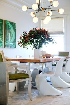 DINING ROOM DECOR IDEAS | modern furniture mix with classic elements , the…