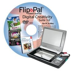 Flip-Pal mobile scanner with Digital Creativity Suite 3.0 DVD by Couragent, Inc.. $209.99. Start your project by scanning your favorite memories with the Flip-Pal mobile scanner, then unleash your creativity with the Digital Creativity Suite 3.0 DVD. Over $300 value when you buy the Flip-Pal mobile scanner with Digital Creativity Suite 3.0 DVD bundle! The patented flip-and-scan technology of the Flip-Pal mobile scanner allows you to scan photos safely while still ...