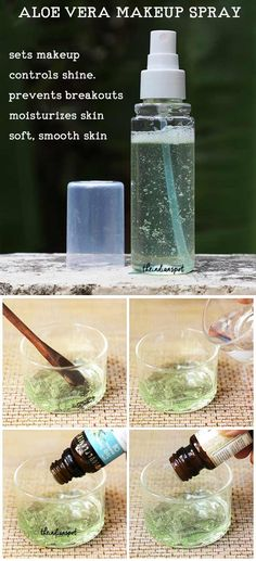 A makeup-setting spray is a fine mist designed to set makeup. While a setting spray can be a game-changer for your makeup, it can often be expensive and contain ingredients that aren't that good for your skin, such as alcohol. Here's an easy recipe to make your own natural makeup-setting spray. Aloe vera is one natural skin… Read More DIY Natural Aloe Vera Makeup setting Spray