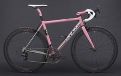 Busyman bartape & recovered saddle on: Baum GT-AC Custom, Rapha Pink, Custom Green, Sram Red, Satin Pearl White, Corretto