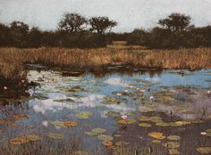 John Meyer / The Day of the Kingfisher / acrylic & sand on canvas / 115 x 155 cm John Meyer, South African Artists, Landscape Paintings, It Works, Past, Canvas, Kingfisher, Cape Town, Acrylics
