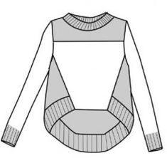 Knitting Patterns, Sewing Patterns, Sweatshirt Refashion, Technical Drawing, Knit Fashion, Dressmaking, Diy Clothes, Sport Outfits, Knit Crochet